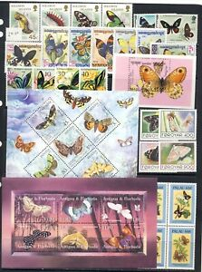 Beautiful Butterfiles on stamp collection mnh vf on 2 pages with items to $20.00