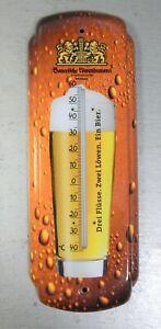 """Thermometer mit Bierwerbung """"Bayerische Löwenbrauerei, Passau"""" in top Zustand"""