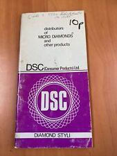 More details for dsc diamond stylus catalogue - l103