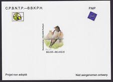 Belgique 2018 Oiseau de Buzin Feuillet NA38 Papier Brillant - Projet non adopté