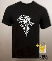 Squall leonhart logo T shirt FF8 Final fantasy VIII lion pride Mens Unisex Tee