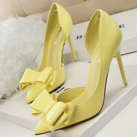 Women Pumps Pointed Toe Sweet Bow Stilettos High Heel Party Ladies Sandals Shoes
