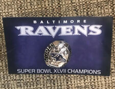Baltimore Ravens Super Bowl XLVII Champions Pin 2012 for PSL Owner Free Shipping
