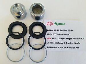 Alfa Romeo Spider, Berlina, GT-Veloce 69-94 Rear Major Caliper Rebuild Kit