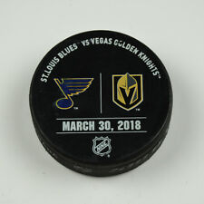 Vegas Golden Knights Warm Up Puck Used 3/30/18 VGK Vs St. Louis Blues Game