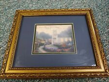 """Framed Thomas Kinkade Blossom Hill Church Print """"Love is Patient, Love is Kind"""""""