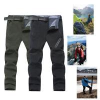 Men's Winter Waterproof Essential Pants Soft Shell Fleece Lined Trousers Outwear
