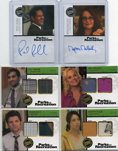 Parks And Recreation  -  Autograph & Costume Card Selection NM  Press Pass