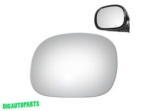 Mirror Glass For 1997-2003 Ford F150,2004 Ford F150 Heritage Driver Left Side LH