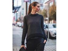 NWT New Lululemon Yogi Crew Sweater *Zips Women sz 4 - Black/ White + lulu Bag