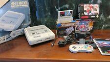 Consola Super Nintendo pack Super Mario World-NFL Football 94-96 SFX converter