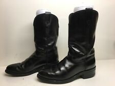 MENS BRONCO COWBOY  WORK BLACK BOOT SIZE 7.5 D