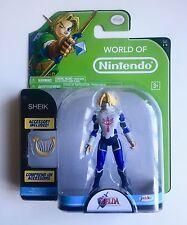 World of Nintendo The Legend of Zelda Ocarina of Time Sheik Action Figure