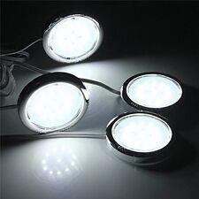 4pcs Kitchen LED Under Cabinets Light Counter Shelf Bright Wall Closet Lamps Set