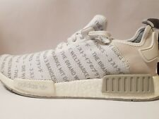 Adidas NMD R1 3 Stripes Grey White PK Boost Mens Size us-10.5 Rare S76518