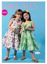 McCall's Sewing Pattern 6543 SZ 2-5 Children's/Girls Easy Dresses Ruffles & Lace