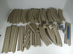 Lot of 38 Thomas & Friends Tan Trackmaster Train Tracks Curved Straight