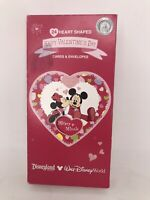 Disney World  24 Heart Shaped Vintage Valentines Day Cards Mickey Minnie