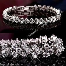 BLACK FRIDAY DEALS Silver 925 Diamond Tennis Bracelet Xmas Gifts for Her Mum F1