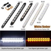 2x Car Daytime Running Light Auto Flexible LED Strip Turn Signal Lamp Fog Lights