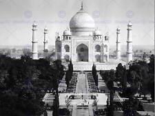 TAJ MAHAL IN AGRA VINTAGE HISTORY OLD BW PHOTO PRINT POSTER 1873BWB