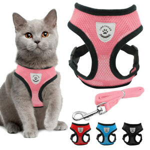 Cat Walking Jacket Harness and Leash Escape Proof Pet Dog Adjustable Mesh Vest