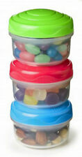 Sistema Extra Small Mini Bites Storage Container Set of 3 Box Tub Kitchen Snack