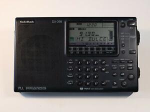 Radio Shack DX-398 Short Wave Radio MW/LW/SW w/Case & Amplified Antenna