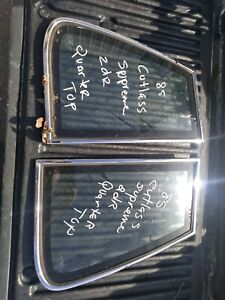 1985 oldsmobile cutlass supreme quarter top glass