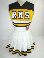 "RMS Cheerleader Uniform Outfit Costumes Sizes 32-36"" Top 22-27"" Skirt Choose"
