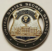 USSS United States Secret Service Police Uniformed Division Officer Cut Out Coin