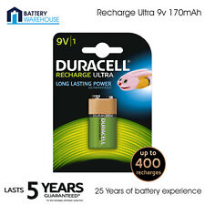 Duracell 9v 170mAh Rechargeable Block Battery - Pack of 1 | PP3 HR22