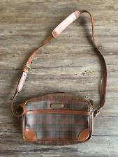 *RARE* Vintage Polo Ralph Lauren Tartan Plaid Cross Body Shoulder Purse Bag