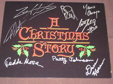 A CHRISTMAS STORY PHOTO AUTOGRAPHED BY 8 CAST MEMBERS W/COA