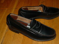 Johnston Murphy Aristocraft Black Leather Penny Loafers Shoes Size 11-D Sharp!