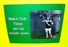 Vtg 1974 Mini cardboard counter poster Store Display by April House Wonder Years