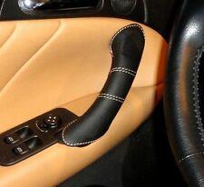 Alfa Romeo 147 Cuir Poignée de Porte 2 Couvercles Couleur Tan Piqûres