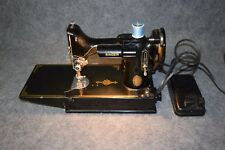 Antique 1951 Singer Featherweight 3-120 Sewing Machine with Case Serial AK074791