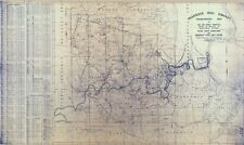 1921 Gas Well Map of Shannopin Coal Company Dunkard Township Greene County PA