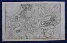 Original antique map, POLAND, ENVIRONS OF DANZIG, GDANSK, A.H. Dufour, 1859