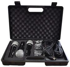 Dynamic Vocal Microphone Kit 3 Plastic Microphones Leads and Carry Case