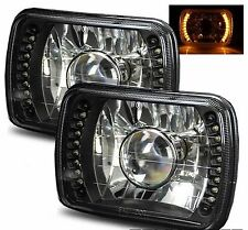 1985-2005 GMC Safari 7x6 H6052/H6054 Semi-Sealed Beam Black Diamond Yellow LE...