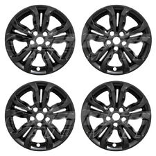 "16"" Gloss Black Wheel Skins Hubcaps (Set of 4) FOR 2019 2020 Chevrolet Cruze"