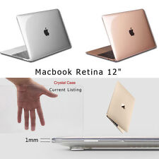 "The New MacBook 12"" Protective Sleeve Case Smooth Glossy Finish (Crystal Clear)"