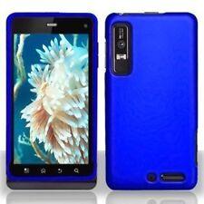Hard Rubberized Case for Motorola Droid 3 XT862 - Blue