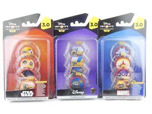 Disney Infinity 3.0 Star Wars, Marvel, Tomorrowland Power Disc Packs x 3.