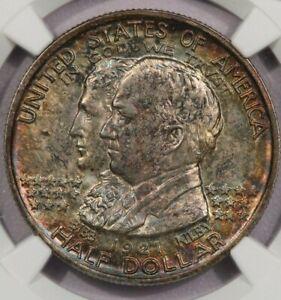1921-P 1921 Alabama Centennial Half Dollar NGC MS 65 beautifully toned!