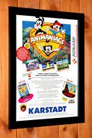 1994 Animaniacs SNES Sega Genesis Game Boy Promo mini Poster / Ad Page Framed