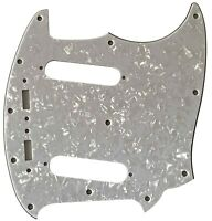 For Fender 4-Ply US Mustang Classic Series Style Guitar Pickguard,White Pearl