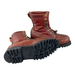 Hiking Genuine Leather Vibram Boots Depose Montagna Block Shoe  Mens 9D